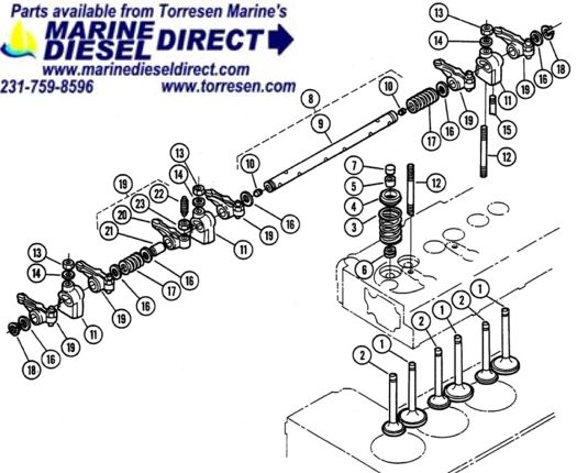 new page 1 rh marinedieseldirect com Engine Oil Dipstick Diagram Engine Main Bearing Diagram